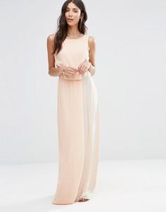 Платье макси Vila Pasya - Розовый