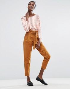 Прямые брюки с присборенной завышенной талией ASOS - Мульти