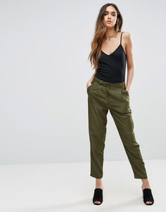 Широкие брюки со складками Vero Moda - Зеленый