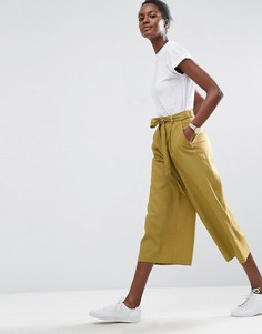 Льняные юбка-брюки ASOS - Зеленый