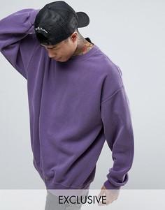 Фиолетовый oversize-свитшот Reclaimed Vintage Inspired - Фиолетовый