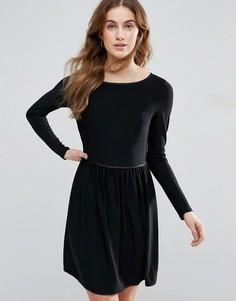 Короткое приталенное платье Traffic People - Бежевый