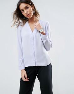 Блузка с V-образным вырезом ASOS - Фиолетовый