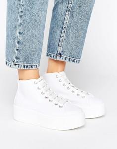 Высокие кроссовки на толстой подошве ASOS DIVAN - Белый