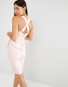 Облегающее платье миди Lavish Alice - Розовый