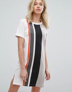 Платье-футболка в полоску Nike - Серый