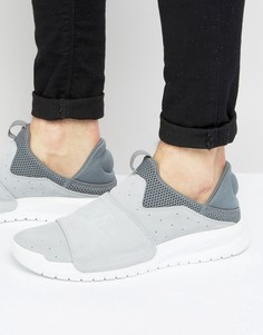 Серые кроссовки-слипоны Nike Benassi 882410-002 - Серый