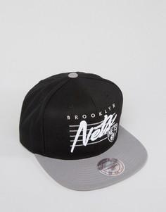 Бейсболка с логотипом Mitchell & Ness Brooklyn Nets - Черный