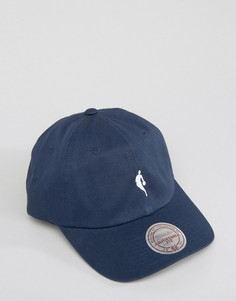 Кепка с логотипом Mitchell & Ness Dad Little Dribbler NBA - Темно-синий