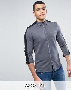 Рубашка классического кроя с контрастной спиной ASOS TALL - Белый