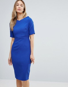Платье-футляр с коротким рукавом Vesper - Синий