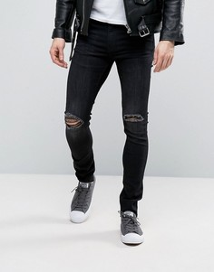 Черные выбеленные джинсы Cheap Monday - Черный