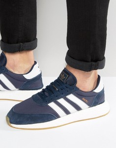 Темно-синие кроссовки для бега adidas Originals Iniki BB2092 - Темно-синий