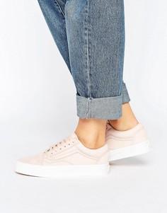 Розовые кроссовки из премиум-замши Vans Old Skool - Мульти