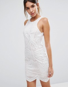 Кружевное платье мини Love Triangle Art Deco - Белый