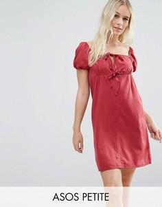 Джинсовое платье в молодежном стиле ASOS PETITE - Красный