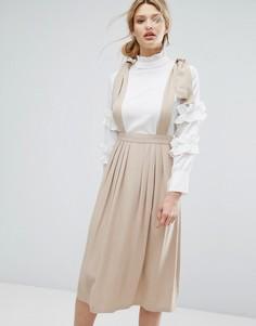 Женские юбки на бретелях