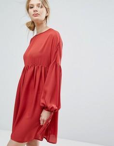 Свободное платье Lost Ink - Красный