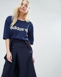 Футболка со вставкой Adidas - Синий
