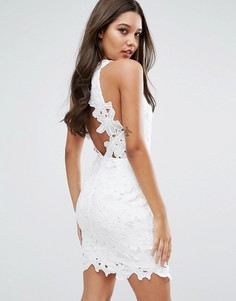 Кружевное платье мини с открытой спиной Missguided - Белый