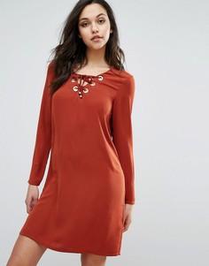 Платье со шнуровкой Supertrash Dambi - Красный