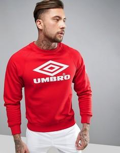 Классический спортивный свитшот с круглым вырезом Umbro Pro - Красный