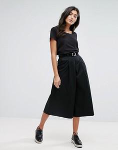 Трапециевидная юбка-шорты YMC - Черный
