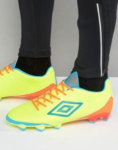 Футбольные кроссовки Umbro Velocita Premier HG - Желтый