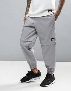 Джоггеры в клетку Adidas Training Bubble - Серый