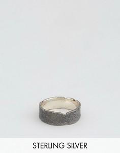 Кольцо из окисленного серебра ASOS Sterling - Серебряный