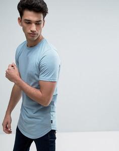 Длинная футболка с закругленным низом Jack & Jones Originals - Синий