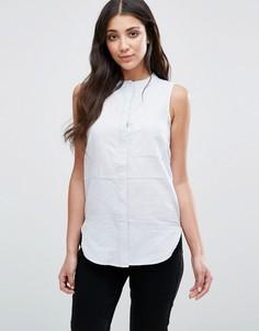 Рубашка из льна шамбре Neon Rose - Синий