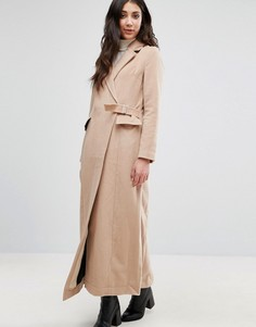 Пальто с запахом Neon Rose - Коричневый