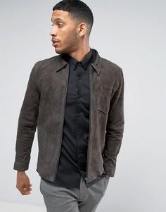 Кожаная куртка Selected - Серый