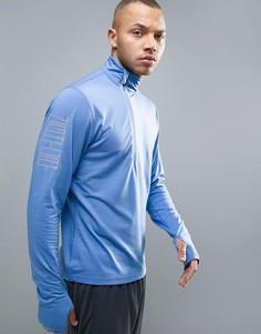 Синий свитшот для бега с короткой молнией Puma Nightcat Powerwarm 51438002 - Синий