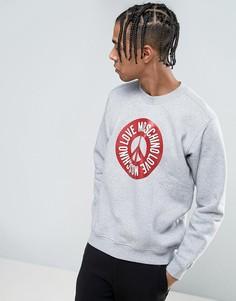 Свитшот с символом мира Love Moschino - Серый