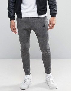 Серые флисовые джоггеры суженного книзу кроя Nike Tech 836416-010 - Серый