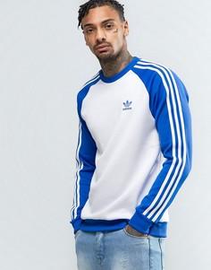 Синий свитшот с круглым вырезом adidas Originals Superstar Crewneck BK5821 - Синий