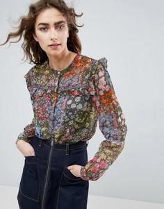 Блузка с цветочным принтом Needle and Thread - Мульти