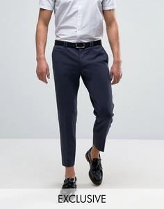 Трикотажные суженные книзу брюки скинни Noak - Темно-синий
