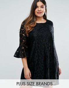 Кружевное платье с расклешенными рукавами Alice & You Prairie - Черный