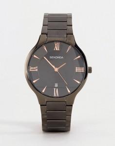 Черные часы с черно-золотистым циферблатом Sekonda эксклюзивно для ASOS - Черный