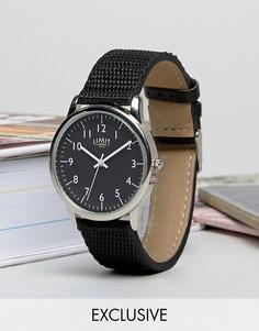 Часы с черным парусиновым ремешком Limit эксклюзивно для ASOS - Черный