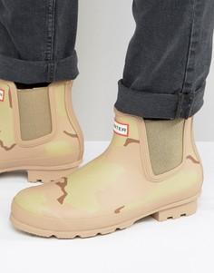 Ботинки челси с камуфляжным принтом Hunter Original - Бежевый