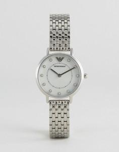 Серебристые часы-браслет Emporio Armani Kappa - Серебряный
