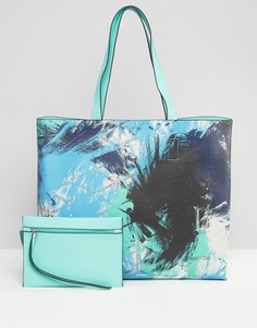 Сумка-шоппер с принтом CK Jeans - Синий Calvin Klein