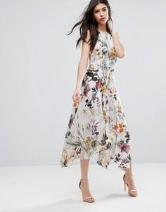 Платье миди с цветочным принтом Talulah Into You - Мульти