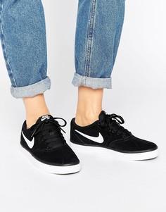 Черные кроссовки Nike SB Check Solar - Черный