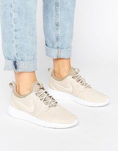 Бежевые кроссовки Nike Roshe Two - Бежевый