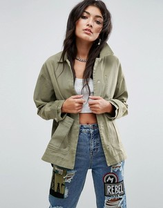 Выбеленная куртка ASOS - Зеленый
